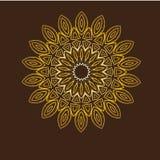 мандала Элементы круглого орнамента винтажные декоративные Стоковое Фото