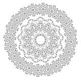 мандала Элементы круглого орнамента винтажные декоративные Стоковое Изображение RF