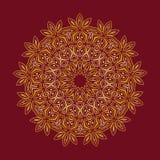 мандала Элементы круглого орнамента винтажные декоративные Стоковое Изображение