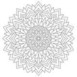 Мандала для книжка-раскраски, кругового этнического орнамента кругло бесплатная иллюстрация