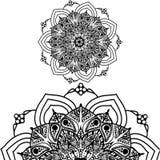 Мандала для красить Орнамент круга вектора этнический восточный Орнаментальная роскошная мандала Цветок Mehindi в индийском стиле Стоковые Изображения RF