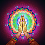 Мандала Namaste Стоковая Фотография