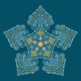 Мандала oriental Doodle Стоковая Фотография