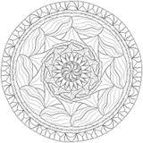 мандала Zentangle Стоковое Изображение RF