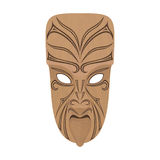 Маорийская деревянная маска Стоковые Изображения RF