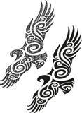 Маорийская картина татуировки - орел Стоковое фото RF