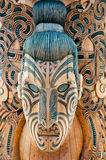 Маорийская маска - Rotorua - Новая Зеландия стоковая фотография rf