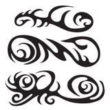 Маорийская племенная татуировка - комплект татуировки различного вектора племенной в polynesian стиле стоковое фото