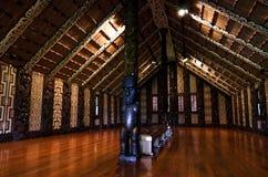 Маорийский дом встречи - Marae Стоковые Фотографии RF