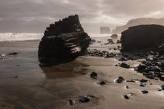 Маорийский залив во время отлива Стоковые Изображения