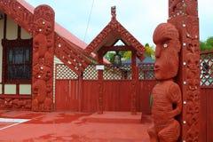 Маорийский дом в Rotorua стоковые изображения