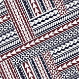 Маорийский орнамент стиля иллюстрация штока