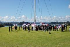 Маорийский протест договор Waitangi стоковая фотография