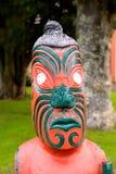 Маорийское резное изображение Новая Зеландия Стоковое Изображение
