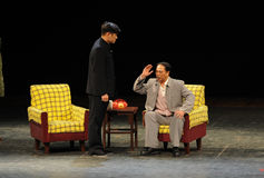Мао Дзе Дун в офис-эскизе анти--коррупция-людей в большом этапе Стоковое Изображение