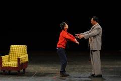 Мао Дзе Дун и доч-в-закон-эскиз анти--коррупция-людей в большом этапе Стоковые Фото