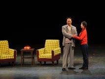 Мао Дзе Дун и доч-в-закон-эскиз анти--коррупция-людей в большом этапе Стоковое фото RF