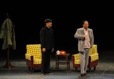 Мао Дзе Дун и секретарша Tian Jiaying-Эскиз анти--коррупция-людей в большом этапе Стоковое Изображение RF