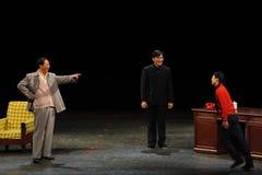 Мао Дзе Дун о анти--коррупция-эскизе анти--коррупция-людей в большом этапе Стоковое Изображение RF