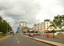 Мапуту, Мозамбик - 12-ое декабря 2008: в столице Mozamb Стоковые Изображения RF