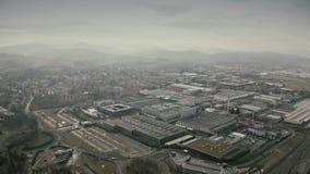МАРАНЕЛЛО, ИТАЛИЯ - 24-ОЕ ДЕКАБРЯ 2018 Вид с воздуха комплекса фабрики автомобиля Феррари стоковые изображения