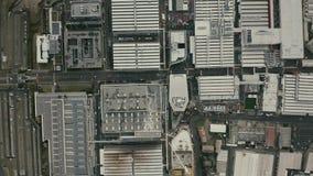 МАРАНЕЛЛО, ИТАЛИЯ - 24-ОЕ ДЕКАБРЯ 2018 Воздушная верхняя часть вниз с взгляда комплекса фабрики автомобиля Феррари стоковая фотография