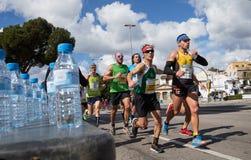 Марафонцы Palma половинные во время популярной гонки Стоковые Фотографии RF