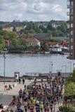 Марафон Гётеборга, Швеции - 18-ое мая 2019 Гётеборга половинный стоковое изображение