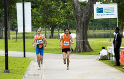 марафон друзей стоковые изображения rf