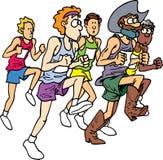 марафон ковбоя Иллюстрация вектора