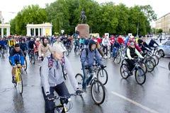 Марафон старта велосипедистов задействуя Рязань 2017 Россия Стоковое Изображение RF