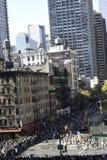 марафон 2011 manhattan города New York Стоковое фото RF