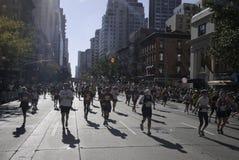 марафон 2011 manhattan города New York Стоковые Фотографии RF