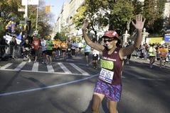 марафон 2011 manhattan города New York Стоковая Фотография