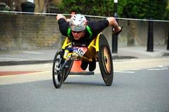 марафон london 2011 disables стоковые фотографии rf