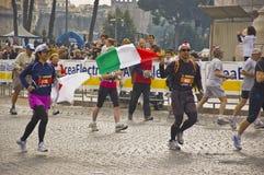 марафон rome стоковые изображения