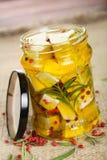 маринад козочки коттеджа сыра Стоковая Фотография