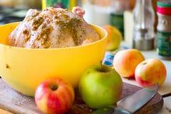 маринад кухни цыпленка яблок стоковые изображения