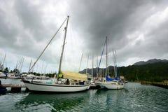 Марина в острове Langkawi стоковое изображение