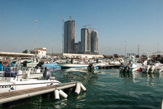 Марина в сердце Абу-Даби Стоковая Фотография