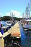 Марина, городок Skiathos, Греция стоковая фотография