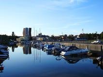Марина городка Klaipeda, Литва Стоковые Фото