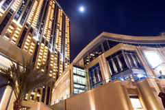 Марина Дубай на ноче Стоковое Фото