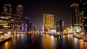 Марина Дубая, UAE Стоковые Фотографии RF