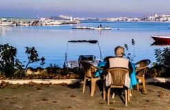 Марина и морской порт городка Cinarcik Стоковое Изображение