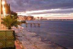 Марина и морской порт городка Cinarcik Стоковое Изображение RF