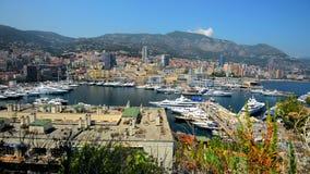 Марина Монако Монте-Карло летом Монте-Карло, Европа сток-видео