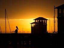 Марина на заходе солнца Стоковое Изображение