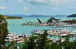 Марина острова Гамильтона, QLD, Австралия стоковые изображения