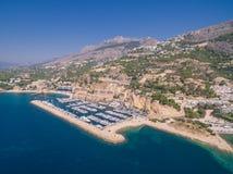 Марина Средиземного моря стоковая фотография rf